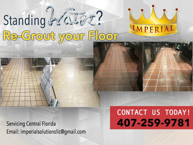 Standing water? Re-grout your floor